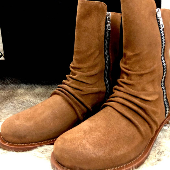 08a1f32ad8d AMIRI Shoes | Stack Suede Boots Brown | Poshmark